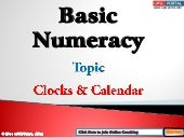 Basic numeracy-clocks-and-calendar