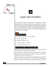 Basic concepte of cost