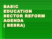 Basic education sector reform agend...