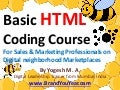 Basic HTML Coding Course for Sales & Marketing Professionals