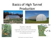 High Tunnel Basics 2009
