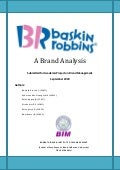 Baskin Robbins-A Brand Analysis