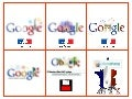 Google and Slideshare Bastille Day logos
