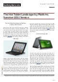The Hot Tablet Landscape by Platform, Summer 2011 Version