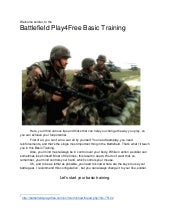 Battlefield play4Free Basic Training