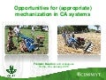 Opportunities for (appropriate) mechanization in CA systems