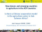 New donors and emerging countries in agriculture in the ACP countries