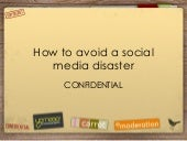 How To Avoid A Social Media Disaste...