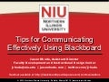 Tips for Communicating Effectively Using Blackboard