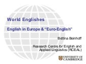 English in Europe and Euro-English