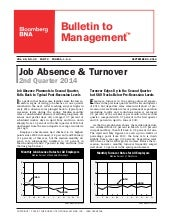 Report on Job Absence & Turnover (2014 2nd Quarter)