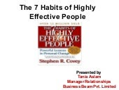 Seven Habits of Highly Effective Pe...