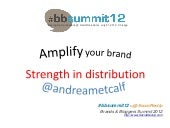 #BBSummit12 - Amplify Your Brand Pr...