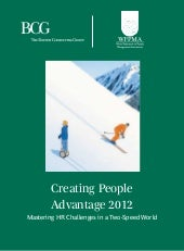 BCG creating people advantage 2012