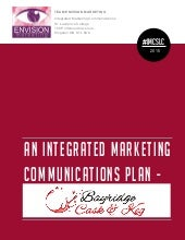 Integrated Marketing Communications Plan - Greg Award 2015