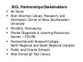 BCL Partnerships & Stakeholders