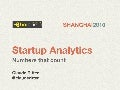 Startup Analytics - Numbers that count