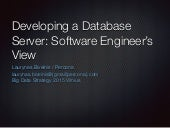 Developing a database server: software engineer's view
