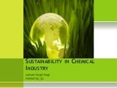 Sustainability in chemical industry...