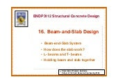 Beam and slab design