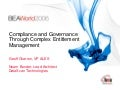 Compliance and Governance Through Complex Entitlement Management