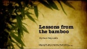 Be Like Bamboo (TEDxTokyo 2011 slides)