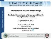 Health Equity for a Healthy Chicago