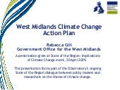 West Midlands climate change action...