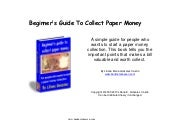 Beginner's Guide To Collect Paper M...