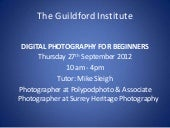 Digital Photography Beginners course