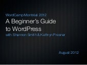 Beginners' Guide to WordPress