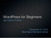 WordPress for Beginners - West Isla...