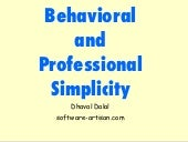 Behavioral & Professional Simplicity