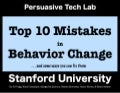 Top 10 Mistakes in Behavior Change