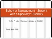 Behavior management FASD