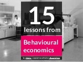 15 Lessons from Behavioural Economics