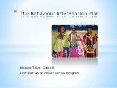 Behaviour Intervention Plan