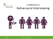 Best Practices for Behaviour-Based Interviewing