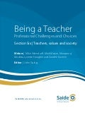 Being a Teacher: Section Six - Teachers, values and society