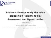 Is Islamic Finance really the value...