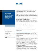Belden Industrial Ethernet White Paper