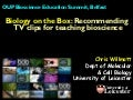 Biology on the Box: Recommending TV clips for teaching bioscience