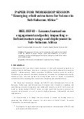Paper presented @ IST Africa 2010