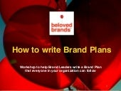 Brand Plan Workshop