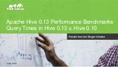 Apache Hive 0.13 Performance Benchmarks
