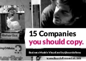 15 companies you should copy: business models visualised by @boardofinno