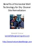 Dry Cleaner Pollution Cleanup - Horizontal Well Technology
