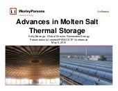 Advances in Molten Salt Thermal Sto...