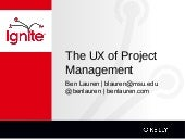 The UX of Project Management