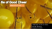 Be of good cheer 1 22-12 sermon